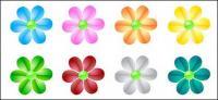 flores de cristal web2.0 vector de material