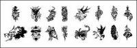 흑백 문신 토템