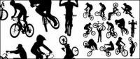 الدراجات الرياضية أرقام الصور الظلية