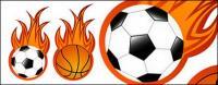 Футбол и баскетбол пламени