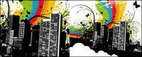 Kota warna vektor bahan-2