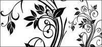 Material de vector de exquisito diseño en blanco y negro