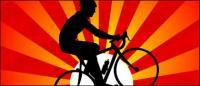 Sonnenuntergang unter dem Radfahren