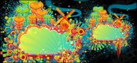Elementos de diseño de las tendencias de color divertido