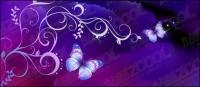 Patrones y fondo de purple Butterfly Dream
