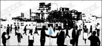 Вектор городской бизнес элитный материал