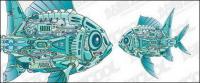 벡터 기계 물고기 소재