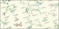 مجموعة متنوعة من المواد غرامة صغيرة الزهور psd
