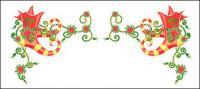 Encajes exquisitos Christmas Vector material-12