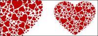 ประกอบด้วยตัวเลขขนาดใหญ่หัวใจที่มีรูปหัวใจที่มีรูปเวกเตอร์
