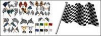 banner de carreras de F1 con el elemento de trofeo
