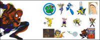 Personnages de dessins animés animation vectorielle