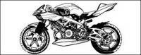 Material de vectores de motocicleta de blanco y negro