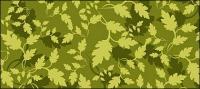 เวกเตอร์พื้นหลังสีเขียวใบไม้