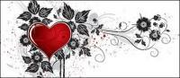 หัวใจที่มีรูปแบบเวกเตอร์วัสดุ-3