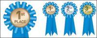 Matériau de médaille de médaille vecteur