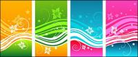 Dynamisch Farbe Muster-Vektor-material