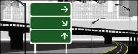 शहर राजमार्ग वेक्टर सामग्री