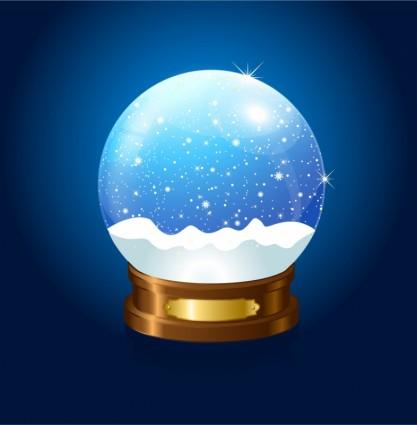 Bola de nieve de navidad sobre fondo azul free download - Bola nieve navidad ...