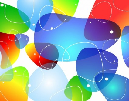 abstract colorful glossy vector background