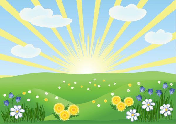 Summer cartoon images 02 - vector 