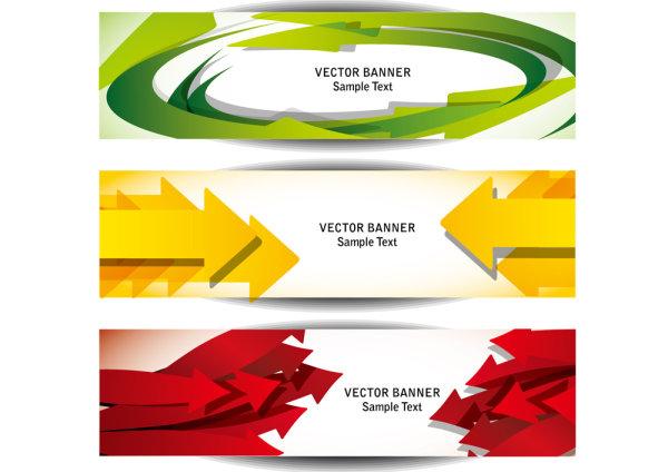 Beautiful long card 05 - vector material