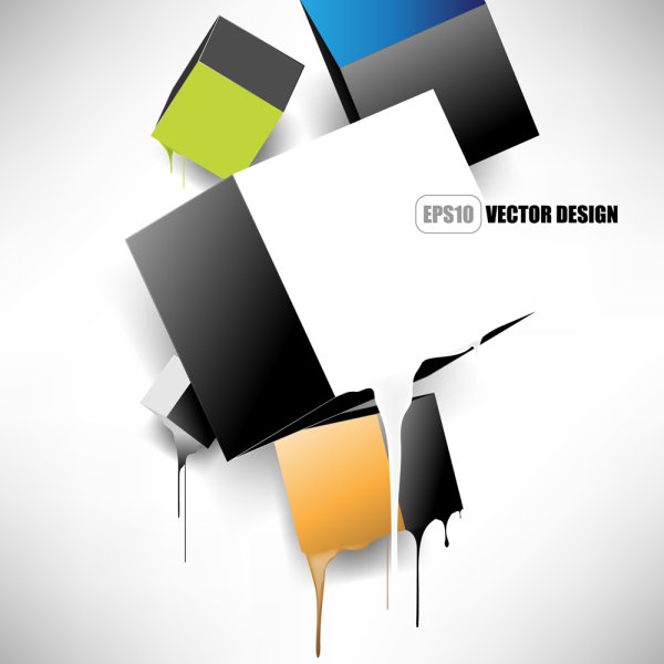 Brilliant trend background 05 - vector material