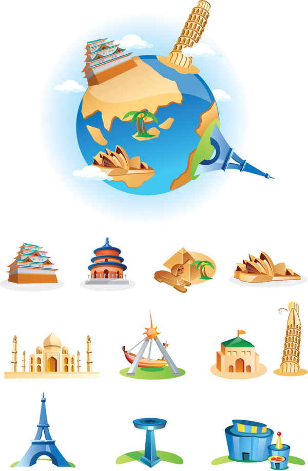 Landmarks Vector Free Cartoon Landmarks Vector