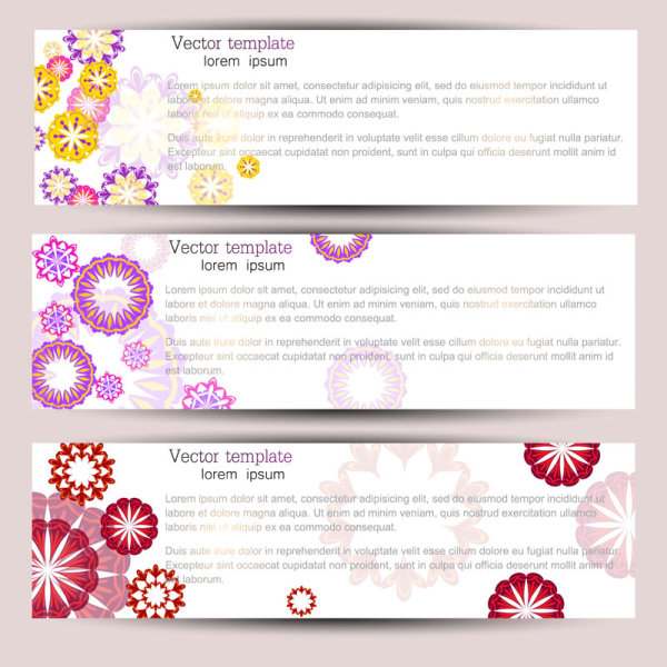 Fine the pattern banner 01 - vector material