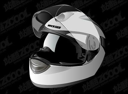 realistic motorcycle helmet Vector