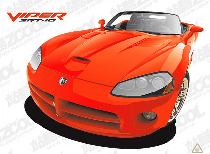 red sports car Vector