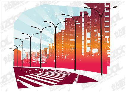 urban roads Vector