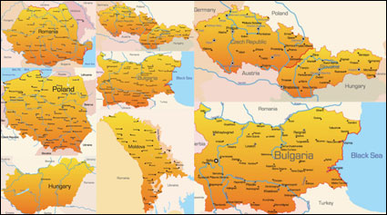 Eastern Europe Geographic Map - Vector