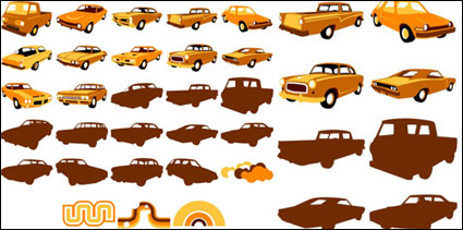 Vector elements of classic cars