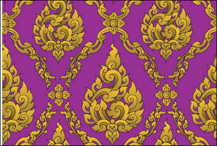 European classical ornate pattern vector material