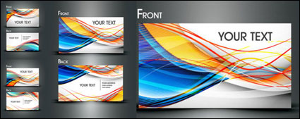 Dynamic Lines Of The Business Card Template