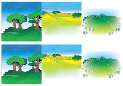 Cartoon landscape Vector -2