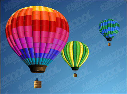 Hot air balloon vector material