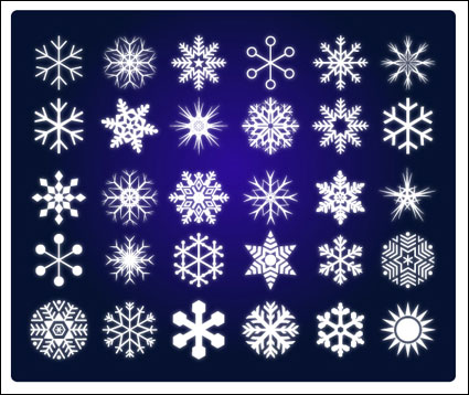 Vector of snow
