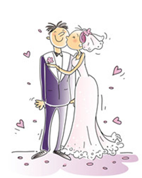 Cartoon-style wedding elements 01 - Vector