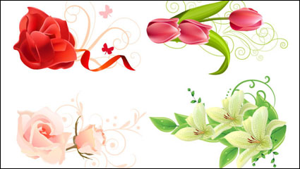 Beautiful flowers - vector material