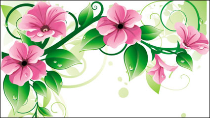 Beautiful flowers 03-- vector material