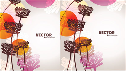 Lovely flowers vector material -4