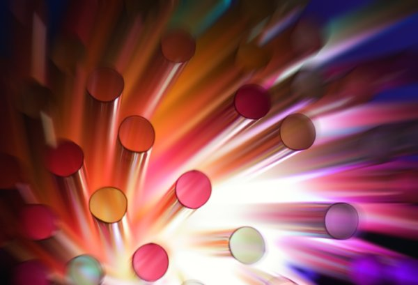 Dynamic colorful dots high definition pictures