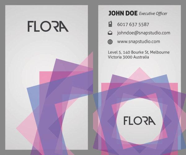 Elegant business card templates 02-PSD layered materials