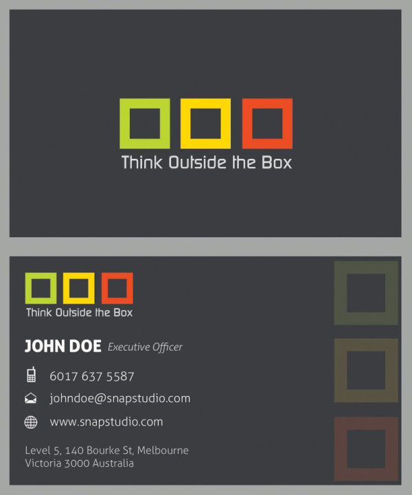 Exquisite Business Cards Template Plate Positive