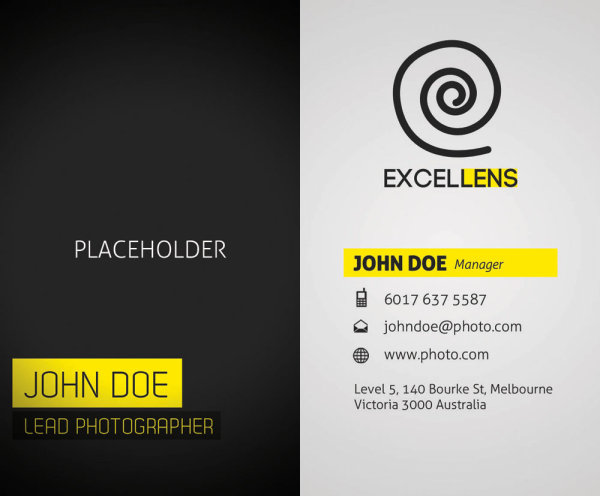 Elegant business card templates 03-PSD layered materials