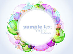 Colorful bubbles background 02-vector material