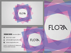 Elegant business card templates 01-PSD layered materials