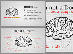 Brain business card-PSD layered materials